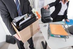 Concetto di perdita del posto di lavoro Fotografie Stock Libere da Diritti