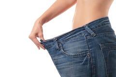 Concetto di perdita di peso. Fotografie Stock Libere da Diritti