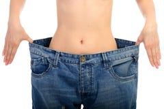 Concetto di perdita di peso. Fotografia Stock