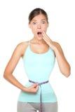 Concetto di perdita di peso - divertente fotografia stock libera da diritti