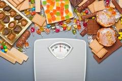Concetto di peso eccessivo Fotografia Stock