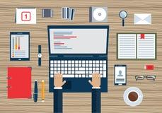 Concetto di pianificazione aziendale e di contabilità, verifica, vendita Fotografia Stock