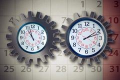 Concetto di pianificazione di organizzazione di affari di orario di lavoro Fotografia Stock