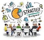 Concetto di pianificazione di vendita di scopo di sviluppo di strategia Fotografia Stock
