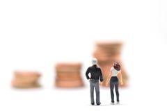 Concetto di pianificazione finanziaria di matrimonio Fotografie Stock