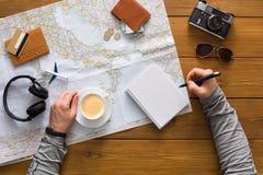 Concetto di pianificazione di viaggio, vista superiore Immagine Stock Libera da Diritti