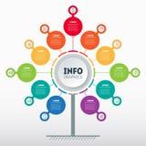 Concetto di presentazione di affari con 11 opzione Modello Web del servizio albero, del grafico di informazioni o del diagramma c royalty illustrazione gratis
