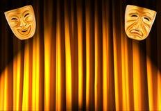 Concetto di prestazione di teatro - mascherine Fotografie Stock Libere da Diritti
