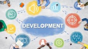 Concetto di procedure di sviluppo di risultato del business plan fotografia stock libera da diritti