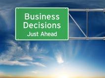 Concetto di processo decisionale di affari Immagini Stock Libere da Diritti