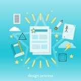 Concetto di processo di progettazione Immagine Stock Libera da Diritti