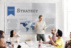 Concetto di processo di progettazione di operazione di motivazione di strategia immagine stock libera da diritti
