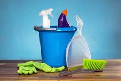 Concetto di prodotti di pulizia Immagine Stock Libera da Diritti