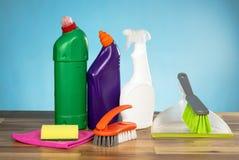 Concetto di prodotti di pulizia Immagine Stock