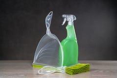 Concetto di prodotti di pulizia Fotografia Stock Libera da Diritti