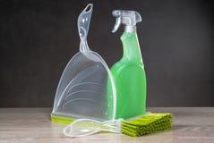 Concetto di prodotti di pulizia Fotografie Stock