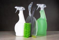 Concetto di prodotti di pulizia Immagini Stock Libere da Diritti