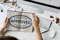 Concetto di prodotto esclusivo approvato di garanzia di 100% Fotografia Stock Libera da Diritti
