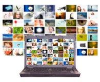 Concetto di produzione della televisione Fotografia Stock
