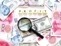 Concetto di profitto Fotografia Stock Libera da Diritti