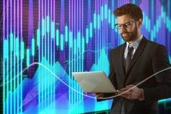 Concetto di profitto e di tecnologia Immagine Stock Libera da Diritti