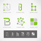 Concetto di progettazione B di simbolo e di logo Fotografie Stock Libere da Diritti