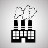 Concetto di progettazione, della pianta e della fabbrica di industria, vettore editabile Immagini Stock