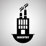 Concetto di progettazione, della pianta e della fabbrica di industria, vettore editabile Fotografia Stock