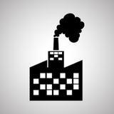 Concetto di progettazione, della pianta e della fabbrica di industria, vettore editabile Immagine Stock