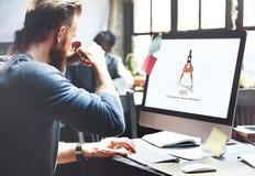 Concetto di progettazione di affari degli strumenti di architettura di Compas Immagini Stock