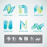 Concetto di progettazione N di simbolo e di logo Immagine Stock