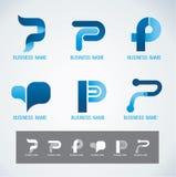 Concetto di progettazione P di simbolo e di logo Immagini Stock