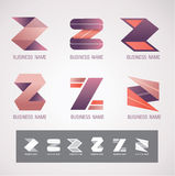 Concetto di progettazione Z di simbolo e di logo Fotografia Stock