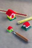 Concetto di progetto dei blocchetti del giocattolo della Camera Immagine Stock