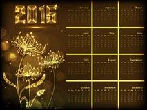 Concetto di progetto del calendario da 2015 anni Immagini Stock