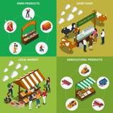 Concetto di progetto del mercato agricolo royalty illustrazione gratis