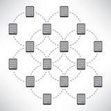 Concetto di progetto della rete con le compresse Immagine Stock Libera da Diritti