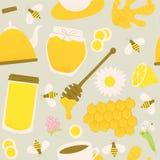 Concetto di progetto dello zenzero e del miele Immagini Stock Libere da Diritti
