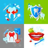 Concetto di progetto dentario Immagini Stock Libere da Diritti