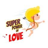 Concetto di progetto di San Valentino con il cupido sveglio del fumetto Immagine Stock Libera da Diritti