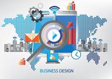 Concetto di progetto di tecnologia della comunicazione illustrazione di stock