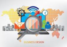 Concetto di progetto di tecnologia della comunicazione illustrazione vettoriale
