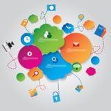 Concetto di progetto di tecnologia di rete sociale illustrazione vettoriale