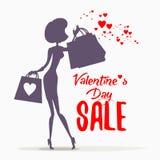 Concetto di progetto di vendita di San Valentino Fotografia Stock
