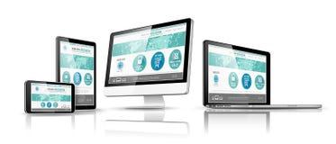 Concetto di progetto di Web Vettore Immagine Stock Libera da Diritti
