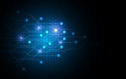 Concetto di progetto futuro del modello del circuito dell'innovazione della rete di tecnologia astratta del fondo illustrazione di stock