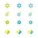 Concetto di progetto industriale di logo di vettore royalty illustrazione gratis