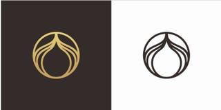Concetto di progetto di logo di bellezza con il modello di lusso di logo di stile illustrazione vettoriale