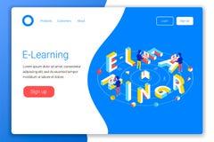 Concetto di progetto online di istruzione Illustrazione di Stock