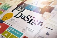 Concetto di progetto per le categorie differenti di progettazione Fotografia Stock